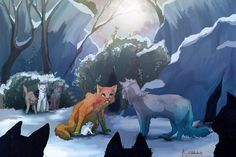 "Fireheart and Cloudkit ""New kit for the clan"" - Warrior Cats [Fire and Ice(? Warrior Cats Fan Art, Warrior Cats Series, Warrior Cats Books, Serval Cats, Love Warriors, Fanart, Cat Photography, Comic, Cat Drawing"
