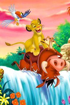Lion king -Timon Pumba Simba what is zazu doing there? Le Roi Lion 3, Roi Lion Simba, Lion King Timon, Simba And Nala, Disney Lion King, The Lion King, Lion King Party, Lion King Birthday, Lion King Movie