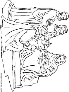 christmas baby jesus coloring three wisemen with baby jesus coloriong page
