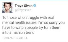 Troye knows whats up, I'm happy that he tweeted this