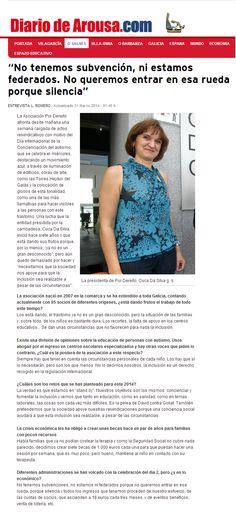 Entrevista en Diario de Arousa por el Día de la Concienciación del Autismo 2014