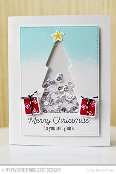 Trim the Tree, Stitched Rectangle STAX Die-namics, Trim the Tree Die-namics - Carly Lee Minner  #mftstamps