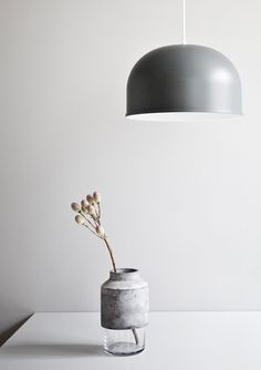 Concrete and glass vase from Menu A/S. Simple and beautiful.