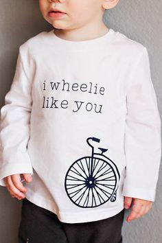 I wheelie like you flocked iron on heat transfer valentines tshirt.