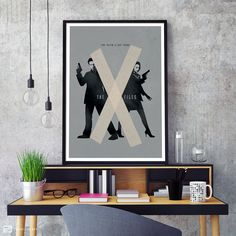 The X-Files poster is based on and inspired by the American science fiction horror drama television series of the same name. The series revolves