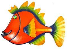 BEAUTIFUL UNIQUE FISH METAL HANGING WALL ART