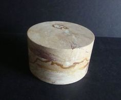 Mid Century Chile Marble Rounded Jewelry Box
