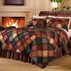 The Country Porch features the Campfire Quilt and bedding accessories from Donna Sharp.