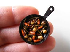 Lamb and vegetable stew - Miniature in 1:12 by Erzsébet Bodzás, IGMA Artisan