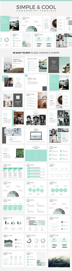Simple & Cool PowerPoint Template is a Minimal, clean, professional and easy to use PowerPoint template for business people and corporate presentations. #powerpoint #ppt #presentation #business #slides