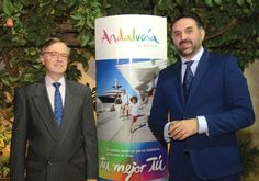 SPANISH AMBASSADOR Fernando Carderera Francisco (left) with Javier Hernandez, tourism minister of Andalusia.  Photo By: HAGIT SHALEV