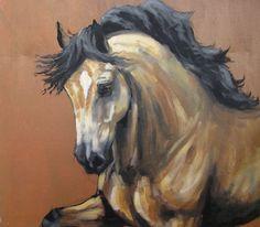 Paard kunst paarden verkeer energie afdrukken 'Pracht' van een