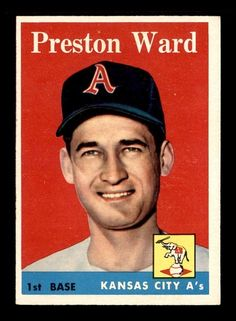 1958 Topps #450 Preston Ward SP EXMT+ X1128396 #KansasCityAthletics
