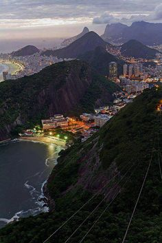 Rio de Janeiro view from Sugarloaf Mountain, Brazil (by Porter Yates).Rios coastline is one of the most beautiful in the world. I have been to Sugar Loaf Mountain and would go to Rio in a heartbeat! Places Around The World, Oh The Places You'll Go, Travel Around The World, Places To Travel, Travel Destinations, Places To Visit, Around The Worlds, Travel Stuff, Wonderful Places