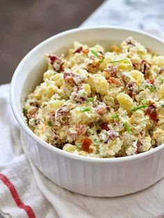 Loaded baked potato salad | Just a good recipe