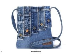 Jean Purses, Bags Travel, Diy Bags Purses, Denim Handbags, Denim Ideas, Recycle Jeans, Boho Bags, Recycled Denim, Patchwork Bags