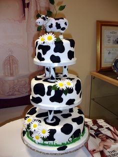 Cow Print Wedding Cake