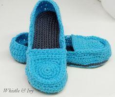 Womens Loafer Slippers Free Crochet
