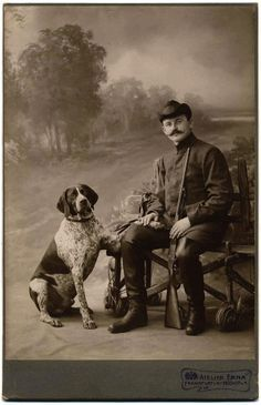 antique photo german shorthaired pointer - Google Search