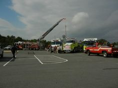 A variety of firefighting, law enforcement, and emergency equipment was on display at Heroes Day 2012.