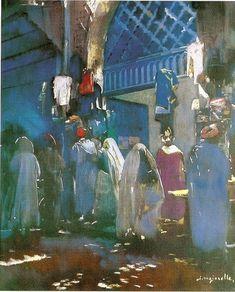 J.MAJORELLE - Souk à Marrakech.