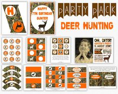 Deer Hunting Birthday Party Package with Invitation by PuggyPrints, $30.00