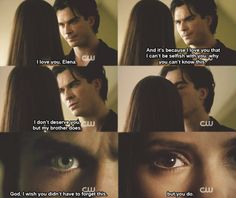 Crying moment! see Damon can be the sweetest guy ever correction he is the sweetest guy ever!