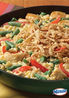 Delicious Cheesy Chicken and Vegetable Skillet made with Minute Rice