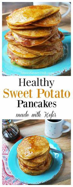 Sweet Potato Pancakes made with Kefir- Amee's Savory Dish