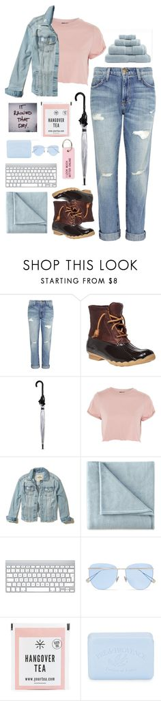 """""""timing is everything"""" by lostreality ❤ liked on Polyvore featuring Current/Elliott, Sperry, Fulton, Topshop, Hollister Co., JCPenney Home, Sunday Somewhere, Pré de Provence and Various Projects"""
