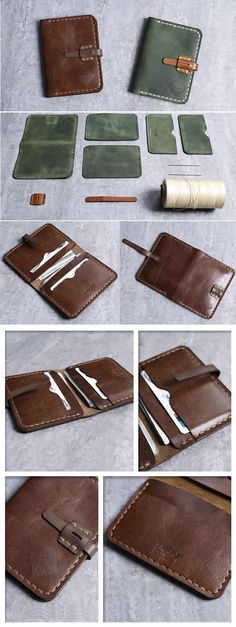 9d87f151dd26 Slim Handmade Genuine Leather Business Card Holder Case Credit Card Case  Holder Coin Purse