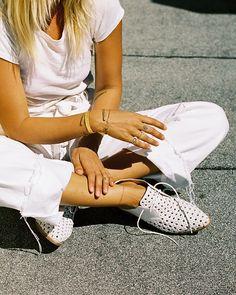 Bared Footwear White Cockatoo woven summer Lace-ups - Anna Feller - Bondi Fashion