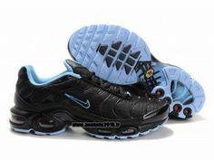 Nike Officiel Nike Air Max Tn Requin Tuned 1 Chaussures Pas Cher Pour Homme Noir-Bleu