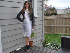 #WIWT Day 2 #NZFW LOVE my ElevenParis dress from #shopbop, worn with Rochas heels and Samvara leather jacket