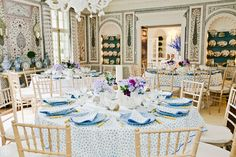 Tory Burch Entertains #Party #ToryBurch #BlueandWhite