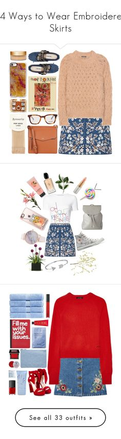 """""""24 Ways to Wear Embroidered Skirts"""" by polyvore-editorial ❤ liked on Polyvore featuring waystowear, embroideredskirts, Needle & Thread, Balmain, Fiorelli, Yves Saint Laurent, Accessorize, Hermès, Casetify and Miu Miu"""