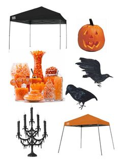 * Create a Halloween trick or treat station with a Quik Shade Canopy * #QuikShade