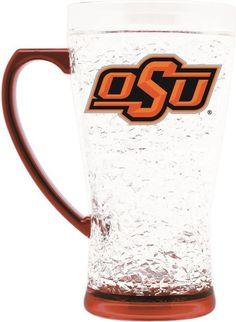 ONE OKLAHOMA STATE COWBOYS 16oz FLARED CRYSTAL FREEZER  MUG FROM DUCKHOUSE #DuckhouseSports #OklahomaStateCowboys