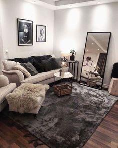 Living Room Decor Cozy, Home Living Room, Living Room Designs, Bedroom Decor, Decorating Small Living Room, Living Room Ideas, Small Apartment Living, Small Apartments, First Apartment Decorating