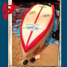 Surfboard cake by Wendy Walker Surfboard Cake, Thomas Cakes, Cupcake Ideas, Celebration Cakes, Yum Yum, Celebrities, Fun, Kids, Shower Cakes