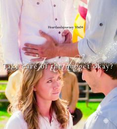 """Take care of the nugget okay? Heartland Season 10, Amy And Ty Heartland, Heartland Quotes, Heartland Ranch, Heartland Tv Show, Heartland Actors, Best Tv Shows, Best Shows Ever, Movies And Tv Shows"