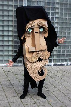 Making faces @ WDKA Illustration – The Arts Board of Cardboard Cardboard Mask, Cardboard Sculpture, Cardboard Crafts, Sculpture Art, Cardboard Costume, Puppet Costume, Cardboard Model, Art Costume, Paper Crafts