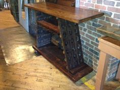 This is destined to be in my dining room.  I love this riddling rack table.