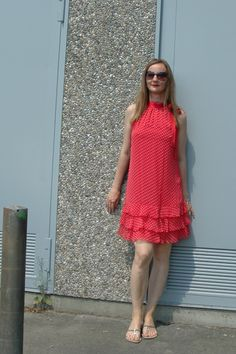 #ruffles #Rüschenkleid #Sommer --> Oceanblue Style at Manderley #fashionblog #over40