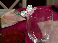 Papillon marque place sur un verre, Stampin up