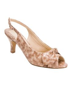 This Beige & Taupe Lindsay Leather Pump by Ros Hommerson by Drew is perfect! #zulilyfinds