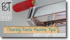 Cleaning Pasta Machine Tip 2 Scraper Buildup