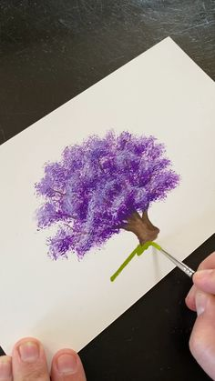 🌳 Painting a Jacaranda Tree with Gouache by Philip Boelter - 🎨 Here's a. - 🌳 Painting a Jacaranda Tree with Gouache by Philip Boelter – 🎨 Here's an easy, simple, a - Canvas Painting Tutorials, Diy Canvas Art, Small Canvas Art, Art Floral, Gouache Painting, Painting Art, Basic Painting, Purple Painting, Beginner Painting