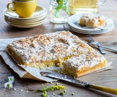 This Louise slice has got me swooning! This recipe sees a Kiwi classic get a zingy, zesty update with lush lemon curd. It seriously rivals the original! Lemon Desserts, Lemon Recipes, My Recipes, Baking Recipes, Cake Recipes, Dessert Recipes, Recipies, Lemon Cakes, Coconut Recipes