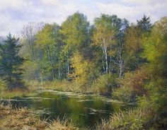 Hidden Pond by Andrew Orr Oil ~ 14 x 18